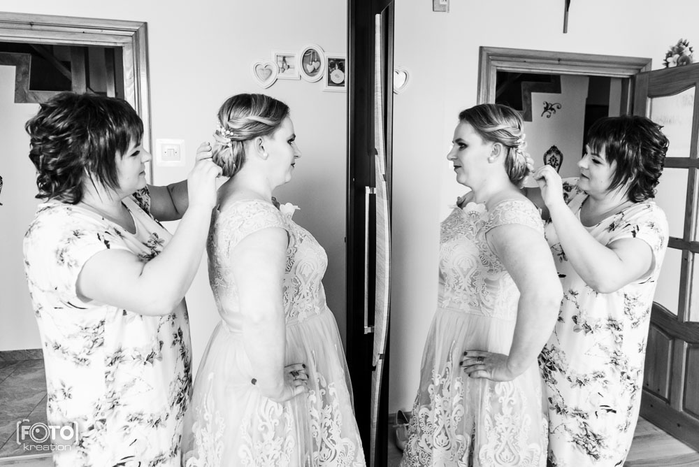 Przygotowania ślubne Wioli